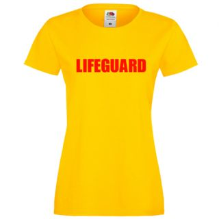 LADIES LIFEGUARD FITTED YELLOW T-SHIRT